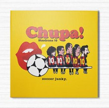 SJK1637 JERRY Football アートパネル 『 Chupa! 』 (30cm x 30cm)