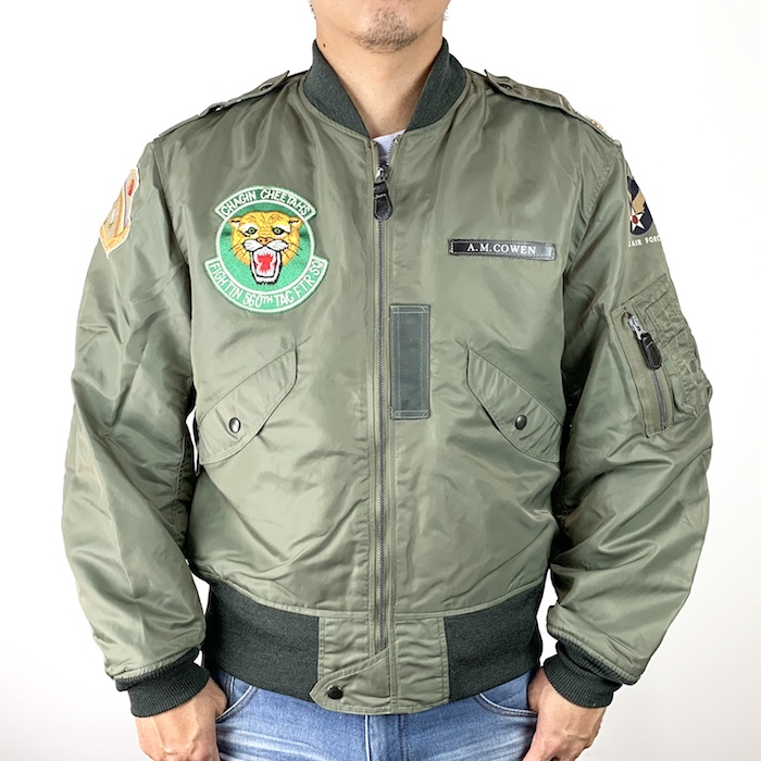 "【30%OFF 9月30日まで】BUZZ RICKSON'S バズリクソンズ TYPE L-2B ""560th TAC. FIGHTER SQ."" ミリタリーフライトジャケット 560th T.F.S. BR14350-L"